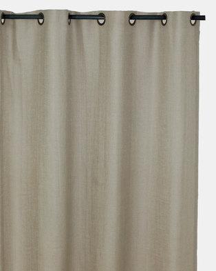 Sheraton Georgia Linen Eyelet Curtain Neutral