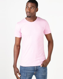 Fittees Clothing Fitted Tee Dusty Pink