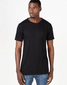 Fittees Clothing Long Line Tee Black