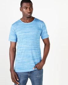 Fittees Clothing Fitted Slub Tee Blue