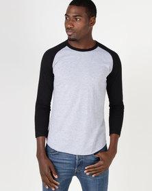 Fittees Clothing Baseball Tee Grey/Black