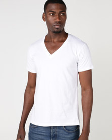 Fittees Clothing V-Neck Tee White