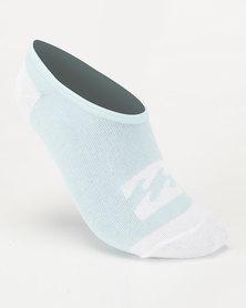 Billabong Invisible Sock Box Set Blue/White
