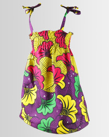 Kieke Print Smock Sundress Yellow