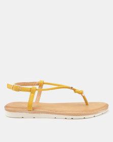 Candy Thong Sandals Mustard