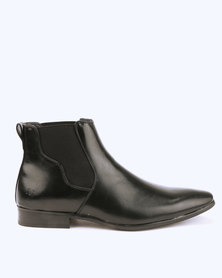Malero Formal Chelsea Boots with Shaped Gusset Black
