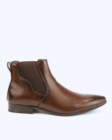 Malero Formal Chelsea Boots with Shaped Gusset Dark Brown