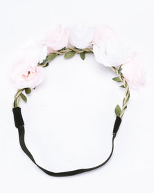 Jewels and Lace Coloured Floral Headband Multi