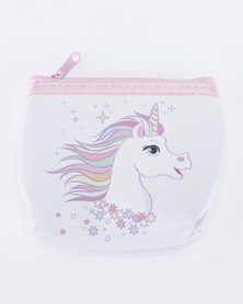 Jewels and Lace Coloured Unicorn Money/Coin Bag Multi