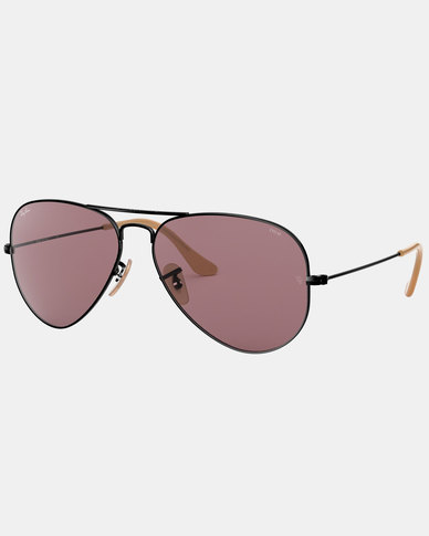 Ray-Ban Aviator Metal Framed Sunglasses Black