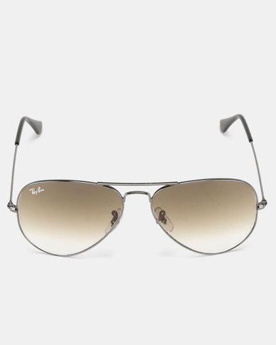 4cdf09e586 Ray-Ban Aviator Large Framed Light Brown Sunglasses Gunmetal Metal ...