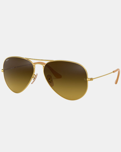 Ray-Ban Aviator Large Gold Metal Framed Sunglasses