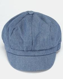 All Heart Denim Baker Boy Hat Stone Wash