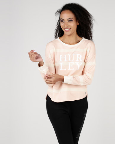 Hurley Dri-Fit Captain Crew Fleece Pink