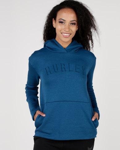 Hurley Patches Pop Hood Fleece Blue
