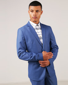 JCrew 2 Button Suit Jacket Longer Sleeve Length Petrol Blue