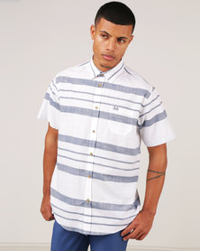 JCrew Short Sleeve Horizontal Stripe Blue