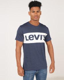 Levi's ® Short Sleeve Colourblock Tee Navy