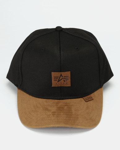 f1c5ee50a3f Alpha Industries Snapback Cap Black