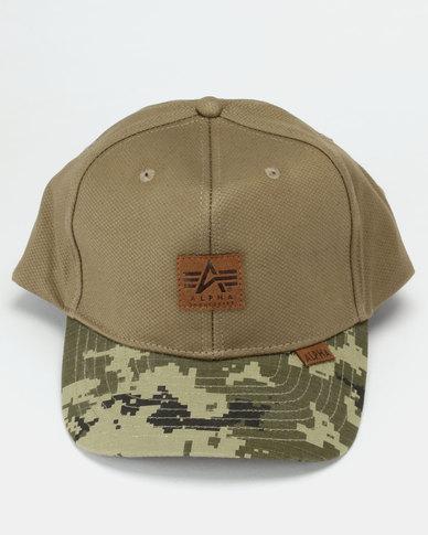 3c3e3b8bda5 Alpha Industries Snapback Cap Khaki