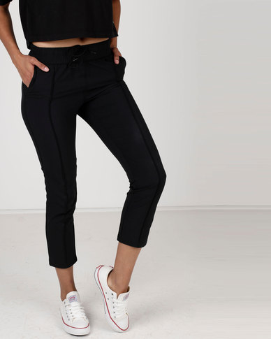 Converse Woven Tapered Pants Black