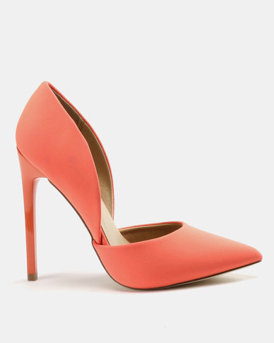 Madison Leah Two Part Pointy Courts Neon Orange