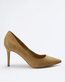 Madison Penny Pointy Court Pumps Tan