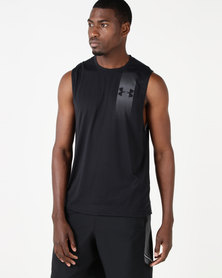 Under Armour Threadborne Graphic Muscle Tank Black/Zinc Grey