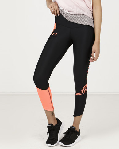6f50d51e0b7fe Under Armour Armour Fly Fast Graphic Crop Black/After Burn/Reflective |  Zando