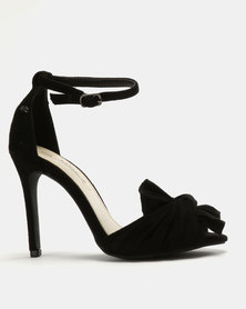 Miss Black Amarah Bow Heel Sandals Black