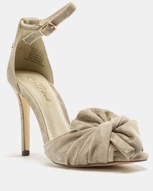 fc951f9757c Amarah Bow Heel Sandals Nude