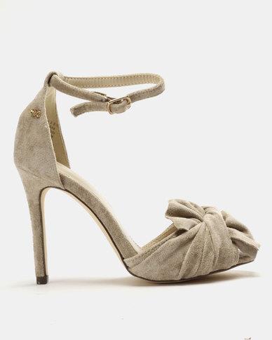6e4d78de202 Amarah Bow Heel Sandals Nude