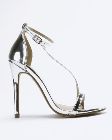 2b1c2a97bd Miss Black Freya Metallic Heel Sandal Silver | Zando