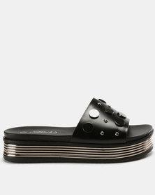 Miss Black Leni Flatform Sandals Black