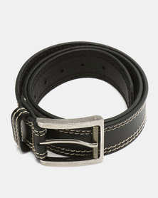 Saddler Belts Full Grain Genuine Leather Mens Belt Black