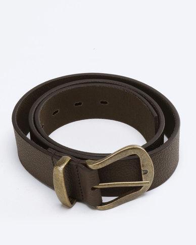 def52f318 Saddler Belts Full Grain Genuine Leather Casual Mens Belt Brown