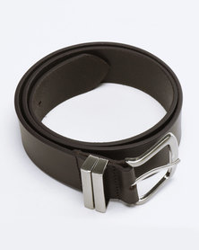 Saddler Belts Simple Full Grain Genuine Leather Mens Belt Brown