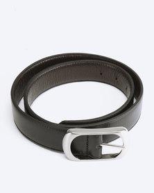 Saddler Belts Genuine Leather Reversible Mens Belt Black/brown
