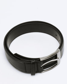 Saddler Belts Genuine Soft Leather Mens Belt Black