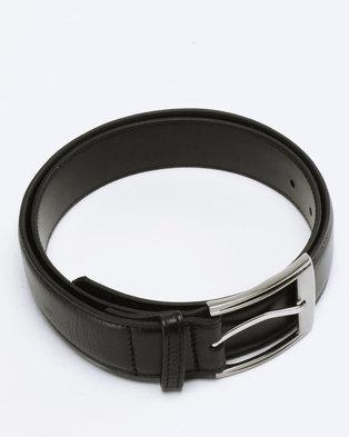 8757d6c30b005 Saddler Belts Genuine Soft Leather Mens Belt Black | Zando
