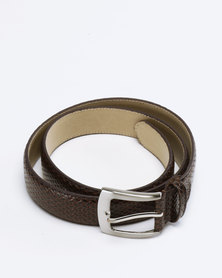 Saddler Belts Men's Formal Belt Brown