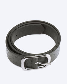 Saddler Belts Ladies Genuine Leather Flora Casual Belt Black