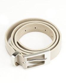 Saddler Belts Ladies Genuine Leather Soft Formal Belt Beige
