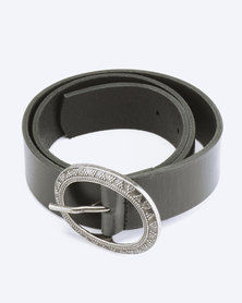 Saddler Belts Ladies Genuine Leather Casual Belt Black