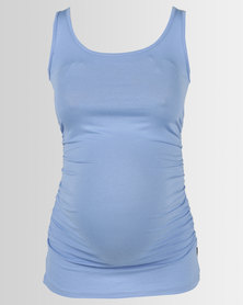 Cherry Melon Tank Top With Side Detail New Blue