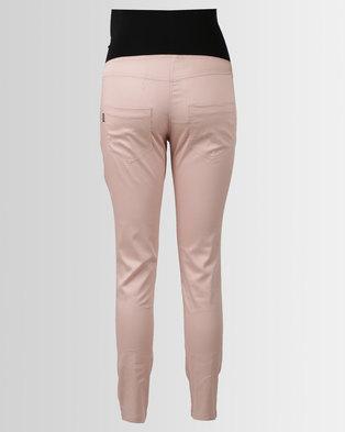 finest selection a7ed6 da8f9 Cherry Melon Skinny Sateen Pants Rose
