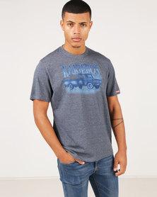 Kakiebos Plaastrok T-Shirt Navy Melange