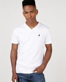 Polo V Neck T-Shirt White