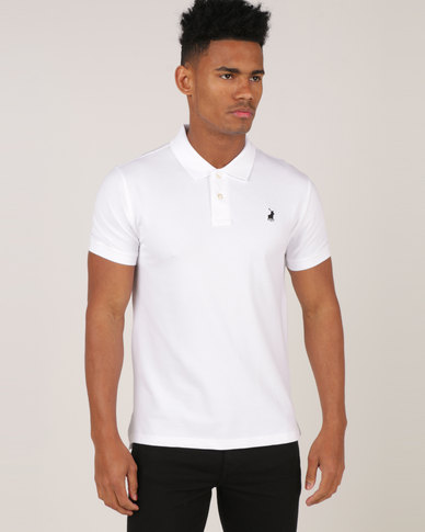 Polo Stretch Pique Short Sleeve Golfer White