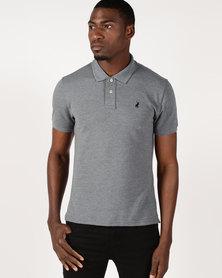 Polo Stretch Pique Short Sleeve Golfer Grey